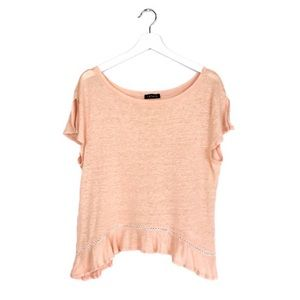 1. STATE Blush Knit Top With Ruffled Hemline